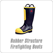 Rubber Structure Firefighting Boots